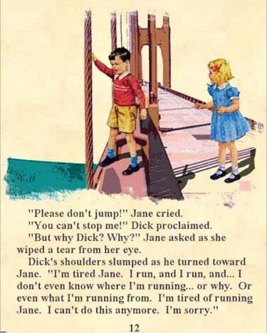 book, children, dick, dick & jane, dick and jane, hopeless
