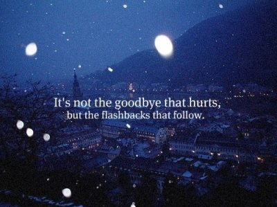 flashback, goodbye, hurt, night, quote, rain