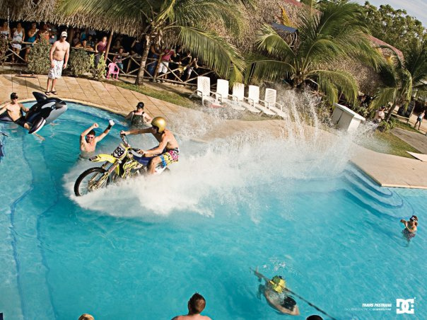 199, boy, circus, dirtbike, lives, nitro, nitro circus, ride, shirtless, travis pastrana, water