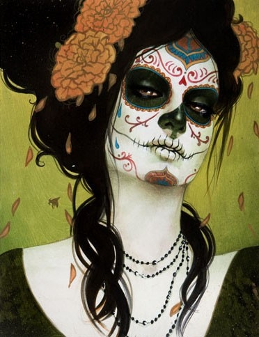 art, caveira, make up, mexico, muertos, pin up