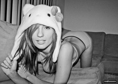 black, boobs, cute, girl, hat, hello, hello kitty, kitty, sexy, underwear, white