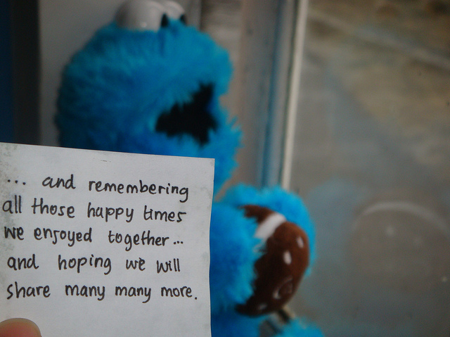 blue, cookie monster, distance, everyone, hope, love