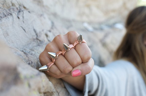brass knuckles, cute, fashion, girl, rig, ring