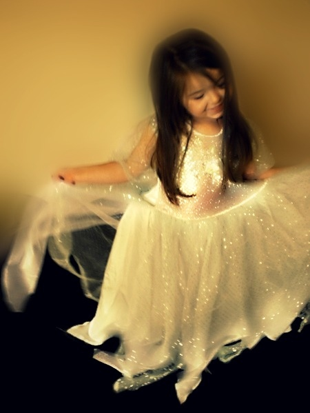 bright, dress, girl, glitter, light, little, princess, shiny