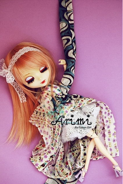 beautiful, closed eyes, cute, doll, ginger, girl, pullip doll