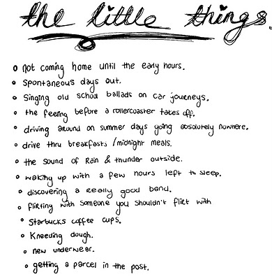 cute, days out, flirting, late night, list, little things