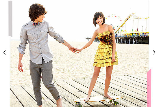 boy, girl, longboard, skate, yellow