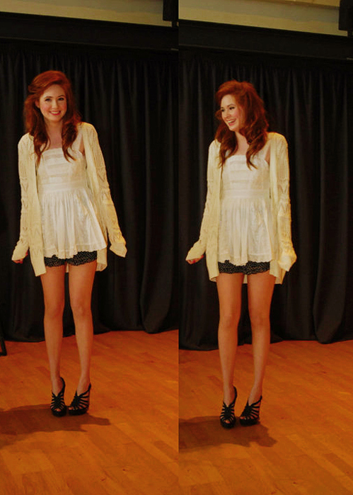 amy pond, clothes, doctor who, fashion, girl, hair, karen gillan, legs, pretty, red, stunning