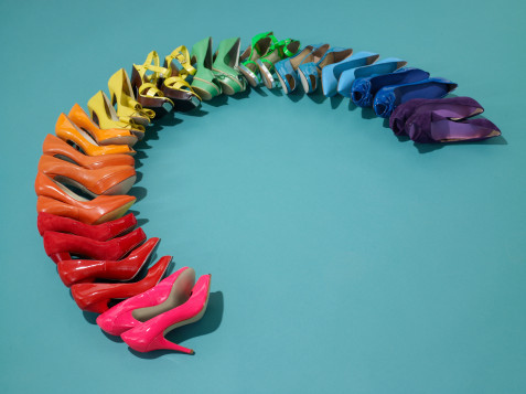 arco iris, colours, cores, rainbow, sapatos, shoes