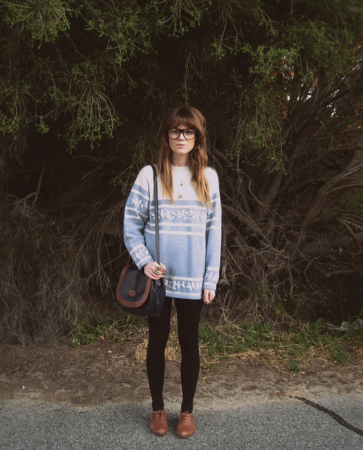 beautiful, blue, fashion, geek, girl, nature, vintage