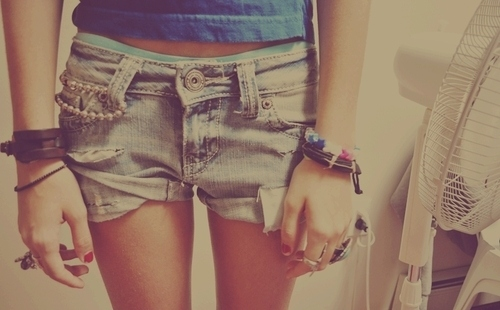 bracelets, fashion, junel, shorts, tank top