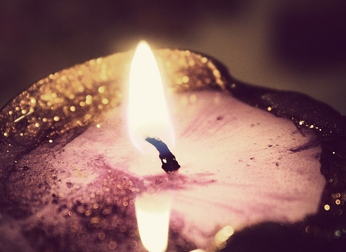 candle, candlelight, dark, fire, flame, gloomy, light, purple, wax
