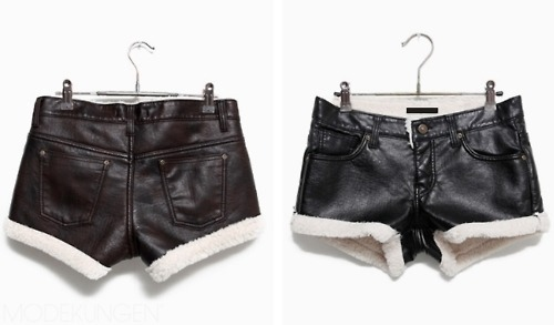 fashion, fur, leather, sheepskin, shorts