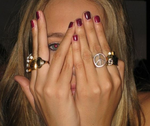 blonde, girl, green eye, hands, nails, rings