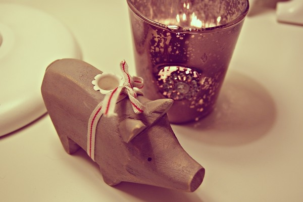 candle, christmas, cosy, grey, interior, pig