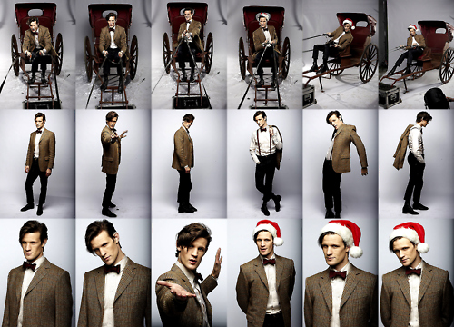 christmas, doctor who, fashion, hat, matt smith, photoshoot