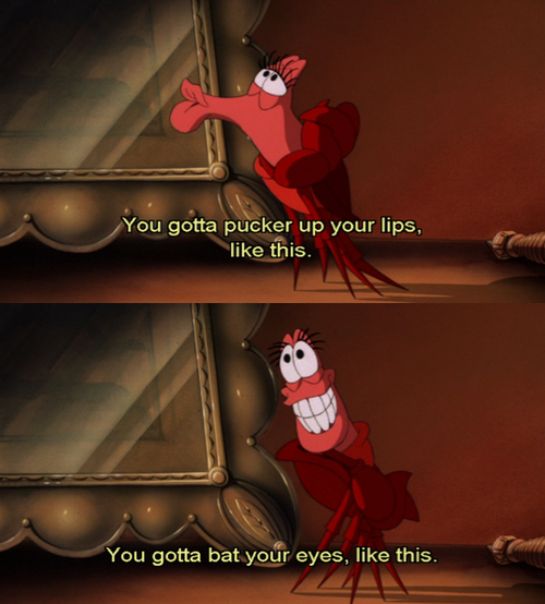 Movie Quotes About Kissing: Sebastian Little Mermaid Funny Quotes. QuotesGram