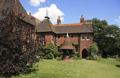 19th century, arts and crafts, england, garden, house, red house