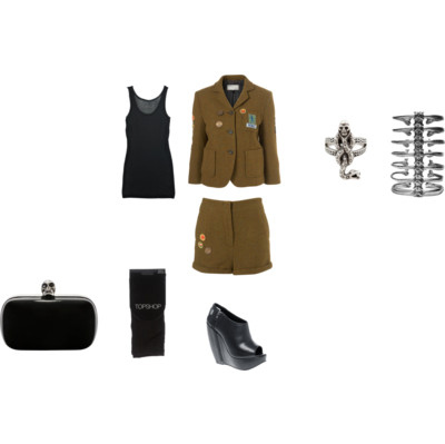 alexander mcqueen, cute, fashion, girl, model, outfit, polyvore, topshop, vintage