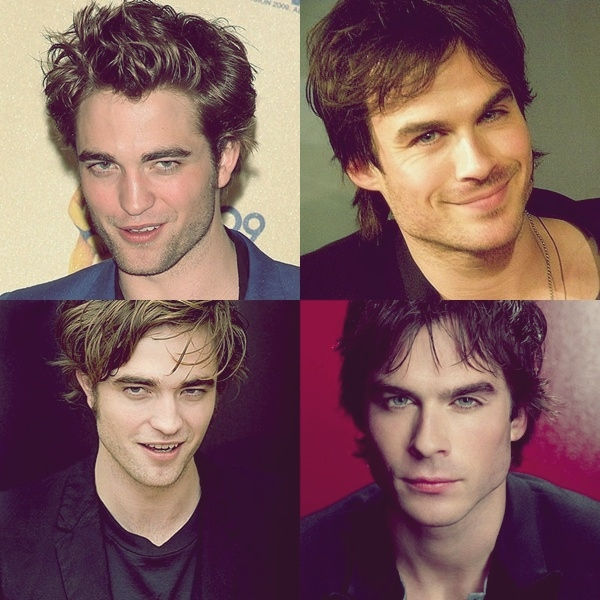 damon salvatore, edward cullen, ian somerhalder, rob pattz, robert pattinson, spunk ransom