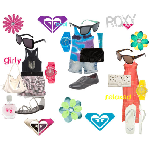 brogues, clothes, fashion, flipflops, gladiators, jandals, outfit, outfits, perfume, polyvore, roxy, style, sunglasses, thongs, wallet, watches