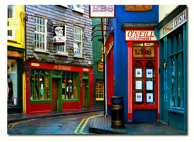 colorful, cork county, cute, ireland, kinsale, street