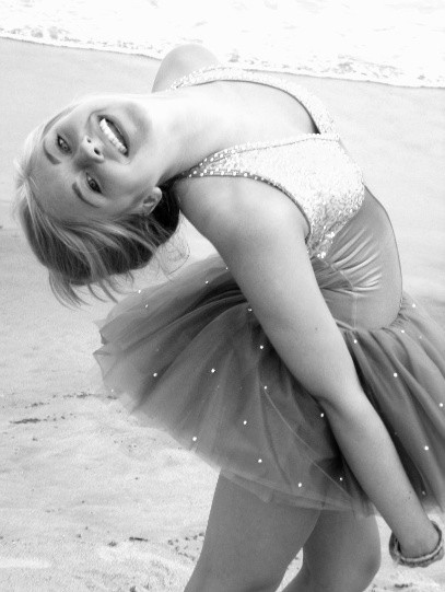 ballerina, ballet, beach, black and white, dance, ocean