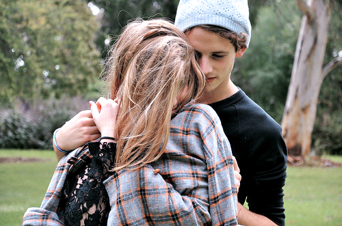 boy, couple, cute, funny, girl, hair, lace, love