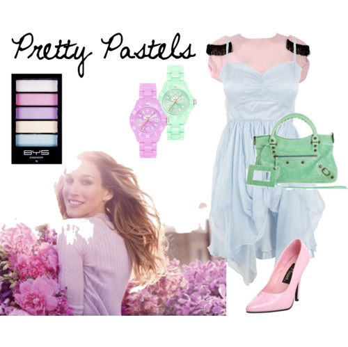 clothes, fashion, outfit, pastels, polyvore, purple
