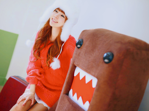 asian, cute, domo, domo kun, girl