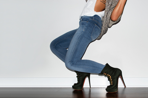 black, fashion, girl, gray, high heels, jeans, shoes