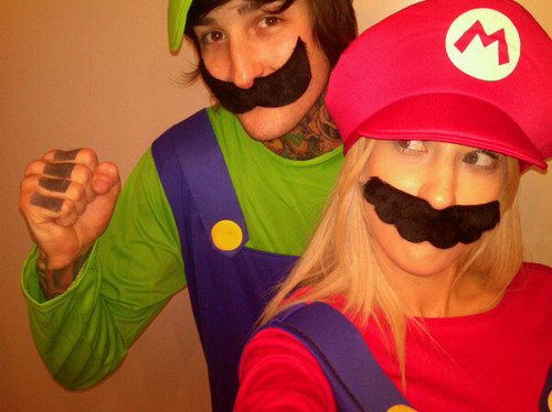 cute, jolie carmadella, jolie lucker, luigi, mario, mitch lucker