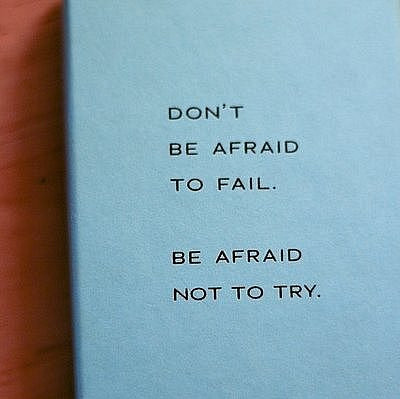 afraid, blue, fail, truth, try
