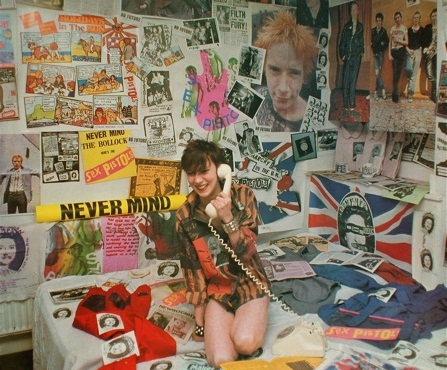 bedroom, dream room, fashion, girl, punk, sex pistols