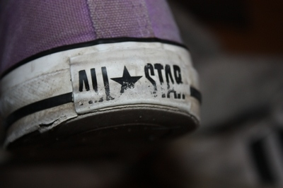 all star, black, black and white, converse, purple, shoes, those are my sneakers lol