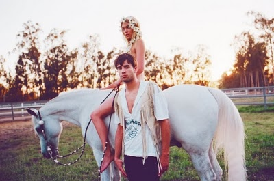 beautiful, boy, couple, girl, horse, love, sun, white horse