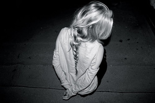 black and white, blonde, ground, hair, highlights, photography, plait, ponytail