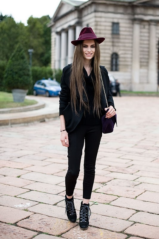beautiful, black, blazer, boots, brunette, cool