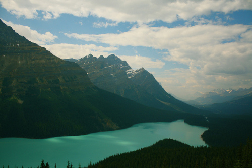 beautiful, blue, canada, clouds, lake, landscape