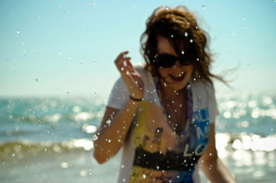 beach, free, girl, happiness, live, smile