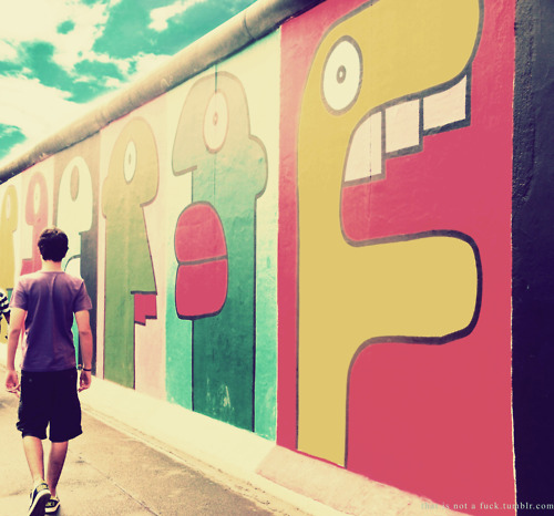 berlin, berlin wall, boy, city, color, colorful