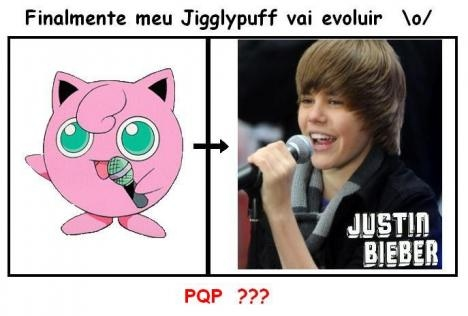 coitado do jigglypuff, evolution, idiota, jigglypuff, justin bieber, pokemon