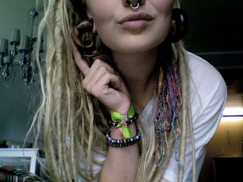cute, dread locks, dreadlocks, dreads, girl, piercing, pluges