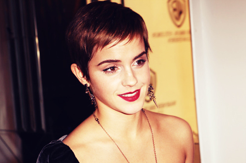 adorable, beautiful, cute, emma watson, pixie, pixie cut