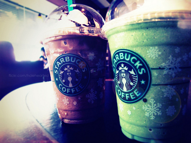 beverages, chocolate, coffee, drinks, frap, green tea