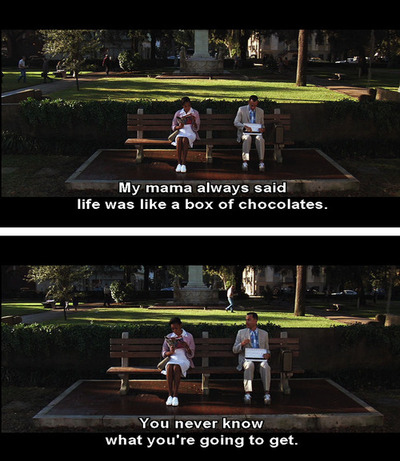 actor, chocolates, cute, forest, forest gump movie, forrest gump