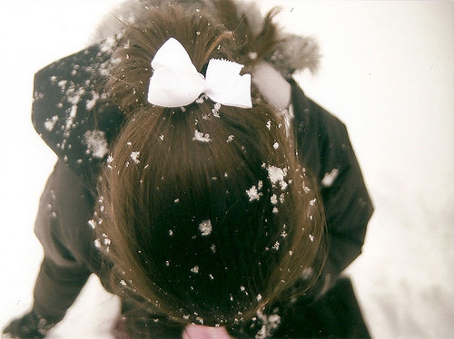 bow, cute, girly, loop, snow, winter