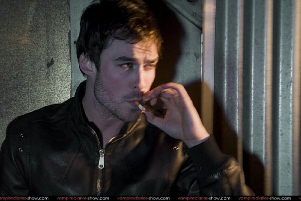 damon, hot, ian, ian somerhalder, sigarette, smoke