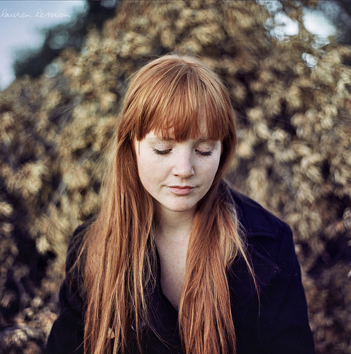 beautiful, coat, eyes, fringe, ginger, girl, long hair, pale, pretty, red hair, red head, strawberry blonde