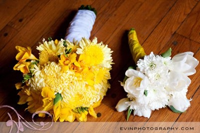 bouquet, flowers, pretty, wedding, white, yellow